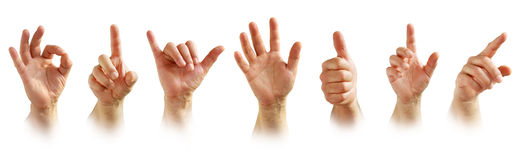 Σημάδια χεριών Στοκ εικόνα με δικαίωμα ελεύθερης χρήσης