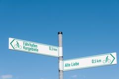 Σημάδια Alte Liebe Faehrhafen Στοκ εικόνες με δικαίωμα ελεύθερης χρήσης