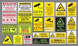 Σημάδια CCTV Στοκ φωτογραφία με δικαίωμα ελεύθερης χρήσης