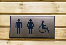 Σημάδια WC Στοκ φωτογραφία με δικαίωμα ελεύθερης χρήσης
