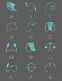 Σημάδια Zodiac για ένα σκοτεινό υπόβαθρο Στοκ Εικόνα