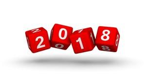 σημάδι έτους του 2018 Πετώντας φραγμοί μωρών με τον αριθμό 2018 Στοκ φωτογραφίες με δικαίωμα ελεύθερης χρήσης