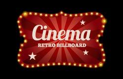 Σημάδι ή πίνακας διαφημίσεων κινηματογράφων διανυσματική απεικόνιση
