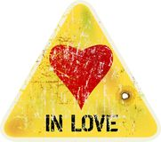 Σημάδι αγάπης με την καρδιά Στοκ εικόνες με δικαίωμα ελεύθερης χρήσης