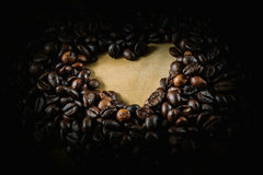 Σημάδι αγάπης φασολιών καφέ Στοκ εικόνα με δικαίωμα ελεύθερης χρήσης