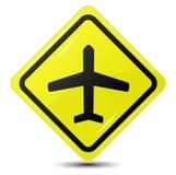 Σημάδι αεροπλάνων, διανυσματικό εικονίδιο. Στοκ Φωτογραφίες