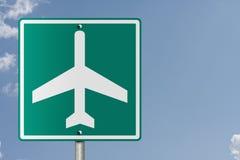 Σημάδι αερολιμένων Στοκ Εικόνες