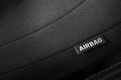 Σημάδι αερόσακων Στοκ φωτογραφία με δικαίωμα ελεύθερης χρήσης