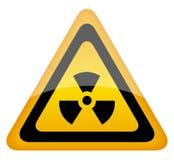 σημάδι ακτινοβολίας Στοκ Φωτογραφία