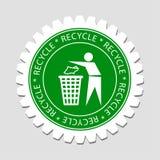 σημάδι ανακύκλωσης ετικ&ep Στοκ εικόνα με δικαίωμα ελεύθερης χρήσης