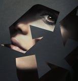 σημάδι ανακύκλωσης πορτρέ& Στοκ Εικόνες