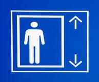 σημάδι ανελκυστήρων Στοκ Φωτογραφία