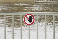 Σημάδι απαγόρευσης καμία καταπάτηση Στοκ εικόνα με δικαίωμα ελεύθερης χρήσης