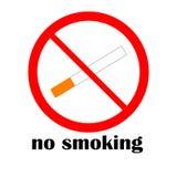 Σημάδι απαγόρευσης του καπνίσματος Στοκ Εικόνα
