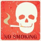 Σημάδι απαγόρευσης του καπνίσματος Grunge Στοκ Φωτογραφίες