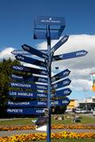 Σημάδι απόστασης της Νέας Ζηλανδίας Στοκ Εικόνα