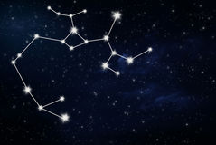 Σημάδι αστεριών ωροσκοπίων Sagittarius στοκ φωτογραφία