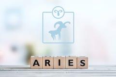 Σημάδι αστεριών Aries σε έναν πίνακα Στοκ εικόνα με δικαίωμα ελεύθερης χρήσης