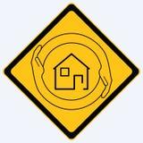 σημάδι ασφάλειας σπιτιών Στοκ εικόνες με δικαίωμα ελεύθερης χρήσης