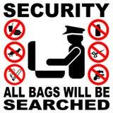 σημάδι ασφάλειας τσαντών Στοκ φωτογραφίες με δικαίωμα ελεύθερης χρήσης