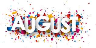 Σημάδι Αυγούστου Ελεύθερη απεικόνιση δικαιώματος
