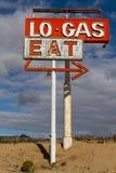 Σημάδι βενζινάδικων και εστιατορίων Στοκ Εικόνα