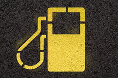 Σημάδι βενζινάδικων Στοκ εικόνες με δικαίωμα ελεύθερης χρήσης