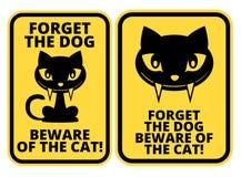 Σημάδι γατών Στοκ εικόνες με δικαίωμα ελεύθερης χρήσης