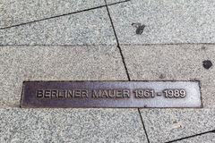 Σημάδι Γερμανία τειχών του Βερολίνου Στοκ Φωτογραφία