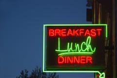 Σημάδι γευμάτων μεσημεριανού γεύματος προγευμάτων Στοκ φωτογραφία με δικαίωμα ελεύθερης χρήσης