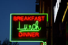 Σημάδι γευμάτων μεσημεριανού γεύματος προγευμάτων Στοκ εικόνα με δικαίωμα ελεύθερης χρήσης