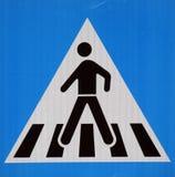 Σημάδι για τους πεζούς περάσματος Στοκ εικόνα με δικαίωμα ελεύθερης χρήσης