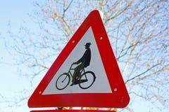 Σημάδι για το ποδήλατο Στοκ εικόνες με δικαίωμα ελεύθερης χρήσης