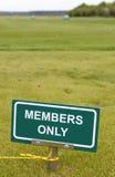 σημάδι γκολφ Στοκ εικόνα με δικαίωμα ελεύθερης χρήσης