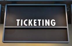 Σημάδι γραμμών εισιτηρίων Στοκ Φωτογραφίες