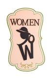 Σημάδι γυναικείων τουαλετών γυναικών Στοκ εικόνα με δικαίωμα ελεύθερης χρήσης