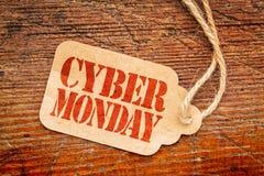 Σημάδι Δευτέρας Cyber στη τιμή Στοκ Φωτογραφία