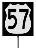 Σημάδι εθνικών οδών για τη διαδρομή 57 Στοκ Εικόνες
