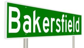 Σημάδι εθνικών οδών για το Bakersfield Καλιφόρνια Στοκ Φωτογραφίες