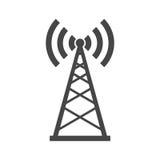 Σημάδι εικονιδίων κεραιών ραδιοφωνικής αναμετάδοσης διανυσματική απεικόνιση