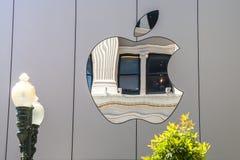 Σημάδι εικονιδίων της Apple Στοκ φωτογραφία με δικαίωμα ελεύθερης χρήσης