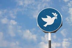 Σημάδι ειρήνης περιστεριών Στοκ εικόνες με δικαίωμα ελεύθερης χρήσης