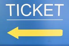 Σημάδι εισιτηρίων στην οδό Στοκ Εικόνα
