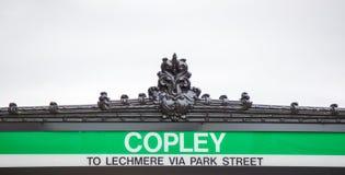 Σημάδι εισόδων υπογείων στο σταθμό Copley στη Βοστώνη Στοκ εικόνα με δικαίωμα ελεύθερης χρήσης
