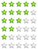 Σημάδι εκτίμησης αστεριών Στοκ εικόνες με δικαίωμα ελεύθερης χρήσης