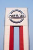 Σημάδι εμπόρων της Nissan Στοκ Φωτογραφία