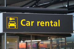 Σημάδι ενοικίου αυτοκινήτων Στοκ Εικόνες