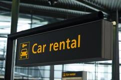 Σημάδι ενοικίου αυτοκινήτων Στοκ Φωτογραφίες