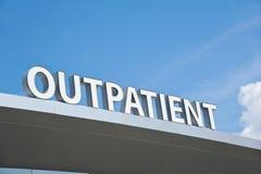 Σημάδι εξωτερικών ασθενών Στοκ φωτογραφία με δικαίωμα ελεύθερης χρήσης