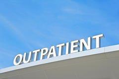 Σημάδι εξωτερικών ασθενών Στοκ εικόνα με δικαίωμα ελεύθερης χρήσης